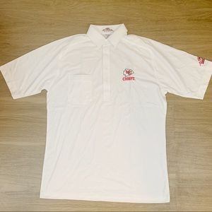 Kansas City Chiefs collared shirt white mens sz M
